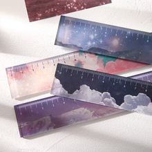 Kawaii Stationery Rulers Drawing Journamm Office Straight School Star No for Snow-Sky