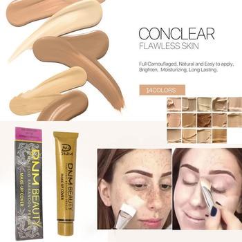 DNM Waterproof Lasting Concealer Liquid Foundation Makeup Professional Full Cover Matte Base Make Up Cream Beauty недорого