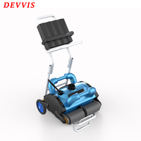 EU WarehouI Smart Pool Cleaner Robot , Automatic Swimming Pool Cleaner With Wall Climbing Function and Remote Control