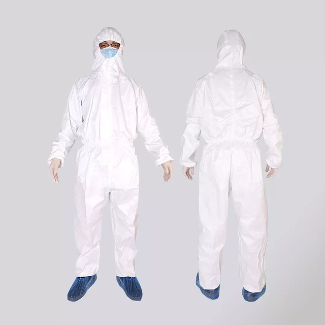 Xiaomi Mijia PPE Overall Protective Suit Clothing Dust-proof Anti-Virus Hooded Isolation Suit White Unisex Protective Coverall 1