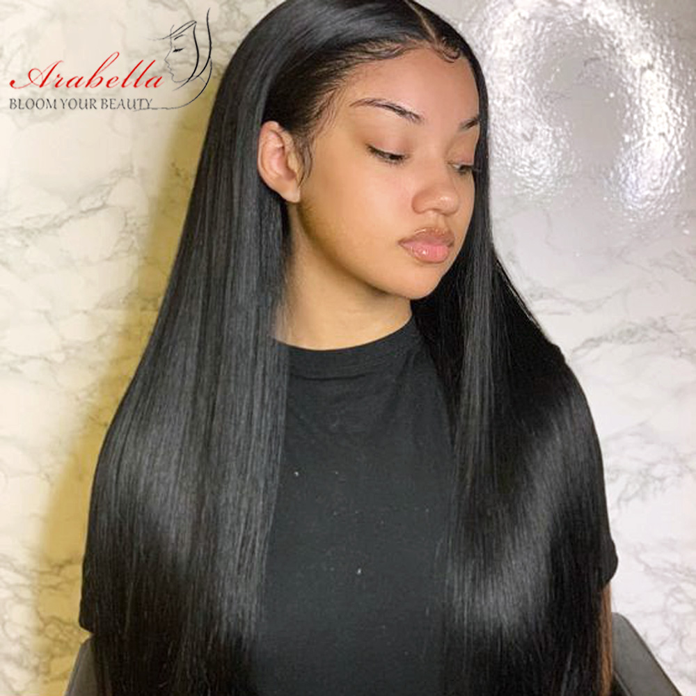 Lace Front  Wigs With Baby Hair  Arabella Hair Straight  Hair 180% Density PrePlucked 13*4 Lace Front Wig 2