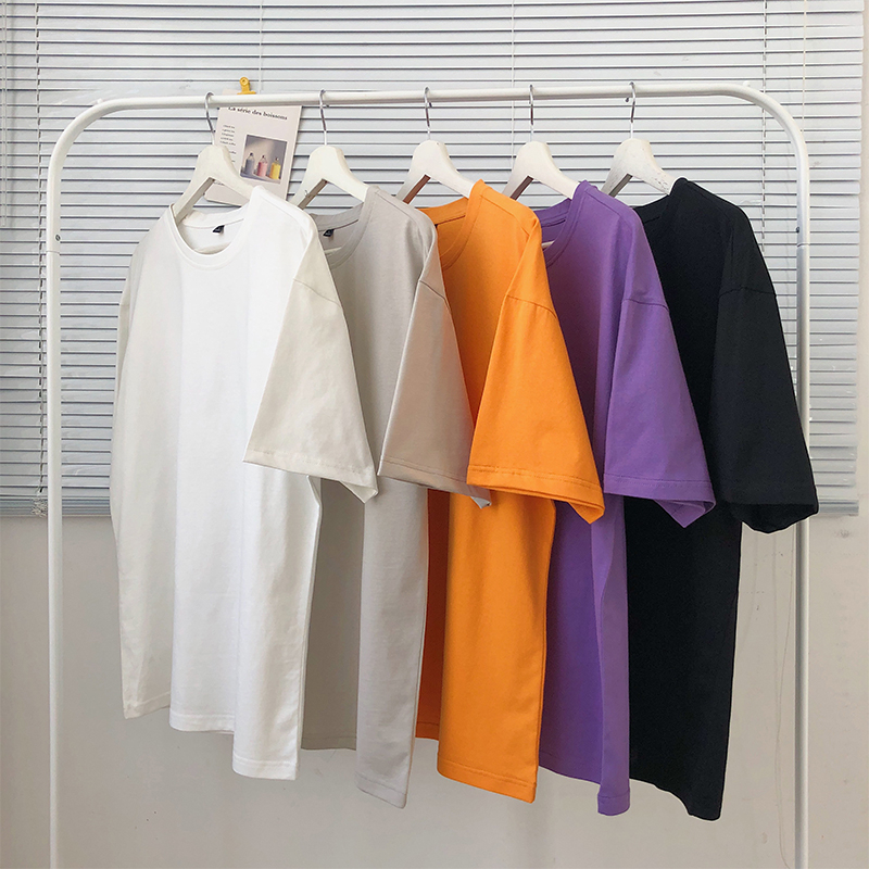 Japan Style Men T-shirts Cotton Blank T Shirt Women/men Fashion Tee Hip Hop Top Tshirt Short Sleeve Plain White T-shirt For Man
