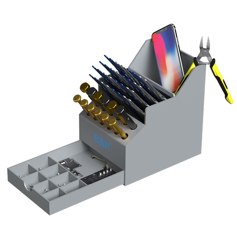 Multi-Function PVC Tool Box Screwdrivers Tweezers Pliers Electronic Component Storage Box Outils Mobile Phone Repair Tools