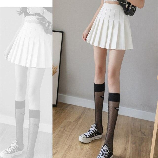 HHGATE XS-2XL High Waist Stitching Student Pleated Women Cute Sweet Girl Dance Mini Black White Blue Grey Skirts 3