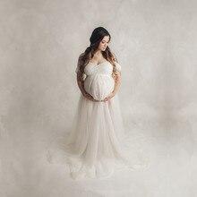 Fotografia ciążowa rekwizyty body sukienki zestawy zdjęcie ciążowe strzelać tiulowa sukienka kombinezony strój