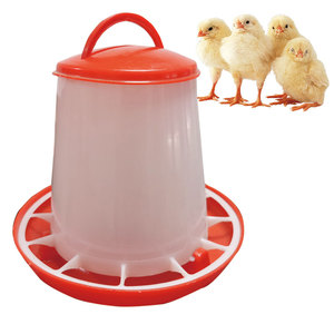 Image 1 - 10 pcs 1.5KG Chicks Feeder ฟาร์มสัตว์อุปกรณ์ดื่มน้ำพลาสติกเข็มขัด Handle Hen ถัง