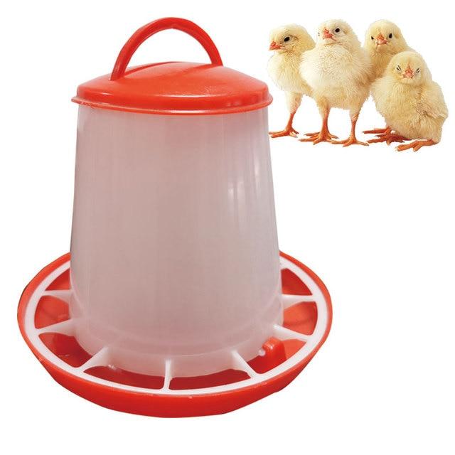 10 pcs 1.5KG Chicks Feeder ฟาร์มสัตว์อุปกรณ์ดื่มน้ำพลาสติกเข็มขัด Handle Hen ถัง