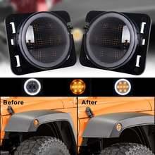 Боковые габаритные огни для jeep wrangler jk jku от 2007 до