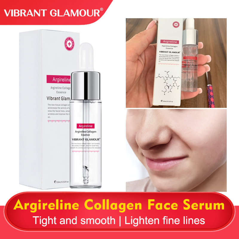 VIBRANT GLAMOUR Argireline Collagen Face Serum Anti-Aging Moisturizing Remove Wrinkle Fine Lines Whitening Firming Face Care