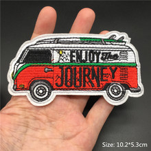 ENJOY JOUREY Hipe Iron on Patches Embroidered Stripes for Clothes Applique DIY Patch Clothing Sewing BadgesDercoration Stickers