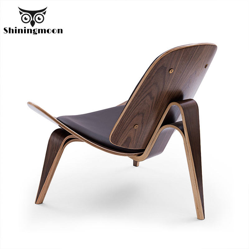 Modern Creative Art Shell Aircraft Chair Nordic Dining Room Chairs Restaurant Coffee Shop Single Sofa  Furniture