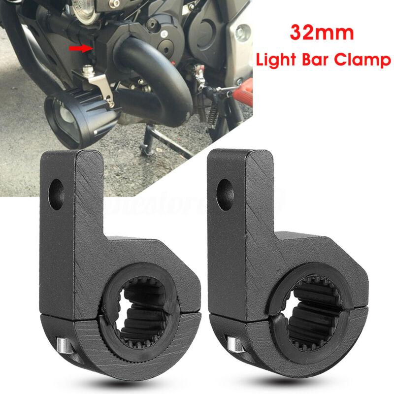 1 Pair 25-32mm Alloy Mounting Bracket Clamp LED Work Light Bar For ATV UTV Truck   Black  With  Aluminum Alloy And Rubber