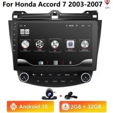 "10.1"" Android 10 Car Stereo for Honda Accord 2003 2007 GPS Navi Wifi Radio New Car Multimedia Player MirrorLink USB DVR SWC CAM"