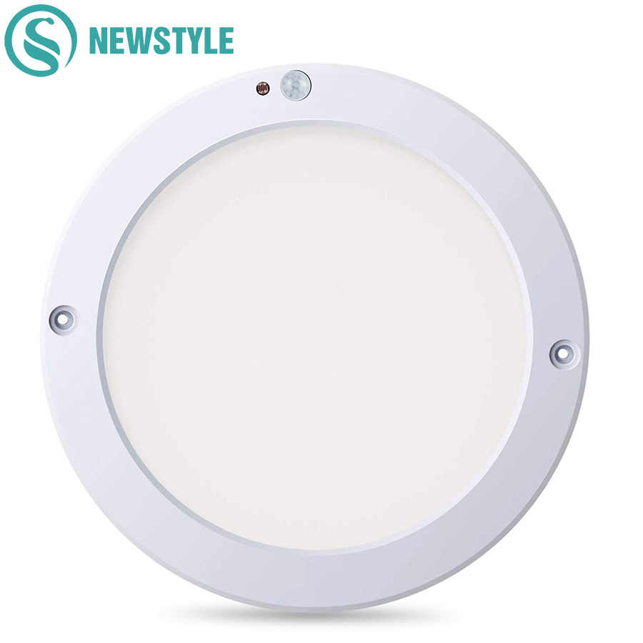 15W/18W Round LED Panel Light Ceiling Lights Led Motion Sensor Downlight Human Body Infrared Detector Flush Mount Light