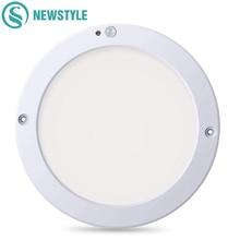 15W/18W Round LED Panel Light Ceiling Lights Led Motion Sensor Downlight Human Body Infrared Detector Flush Mount Light