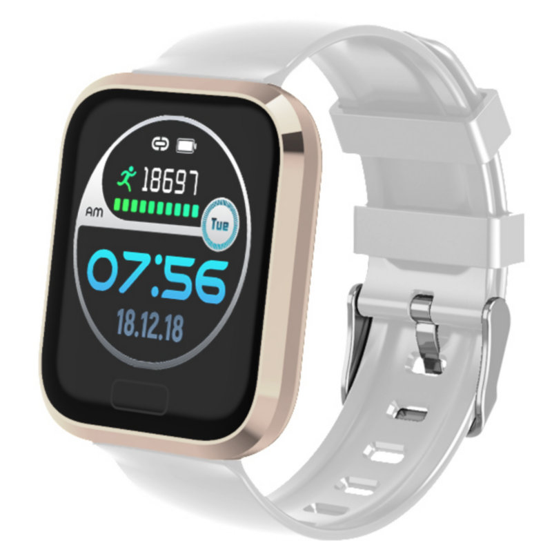 P30 Smart Watch Waterproof Blood Pressure Heart Rate Monitor Fitness Tracker Sports Watch for Smartwatch Android IOS Phone White