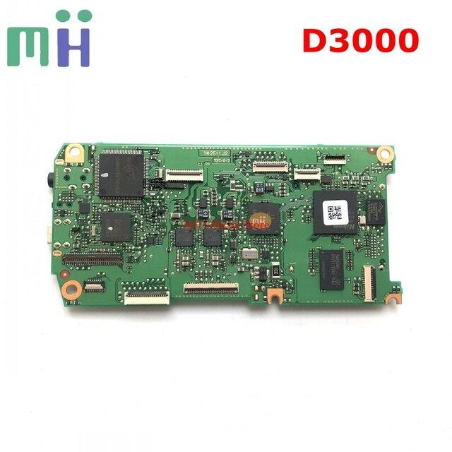 Segunda mano para Nikon D3000 placa base Tablero Principal madre PCB Cámara repuesto