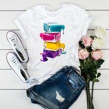 Женская футболка с графическим принтом женская 3d губ повседневная