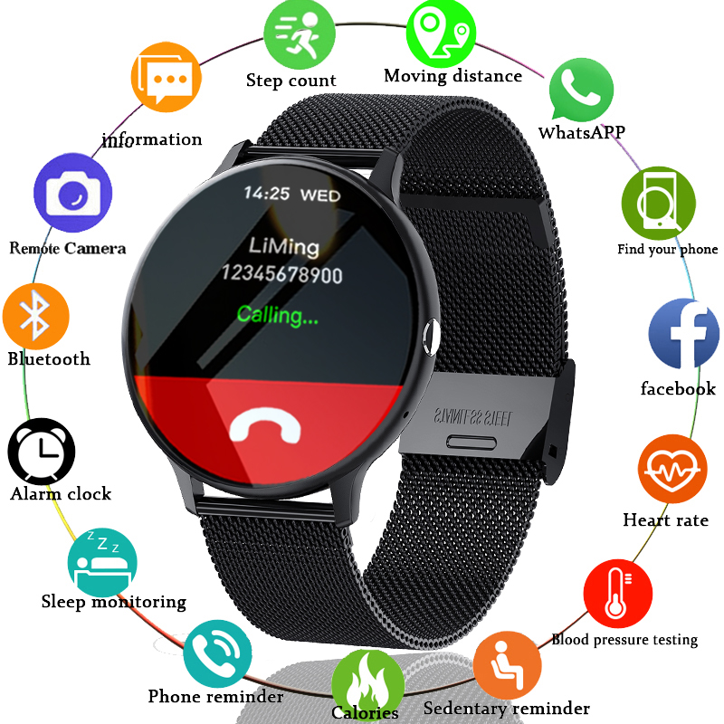 LIGE 2021 New Bluetooth call smart watch men women Sport mode Heart rate and blood pressure monitor Activity tracker Smartwatch