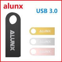 Unidad flash USB 3,0 de alta velocidad, unidad flash portátil de unidad flash USB de metal auténtico de 64GB, 128GB, 32GB, 16GB, 8GB