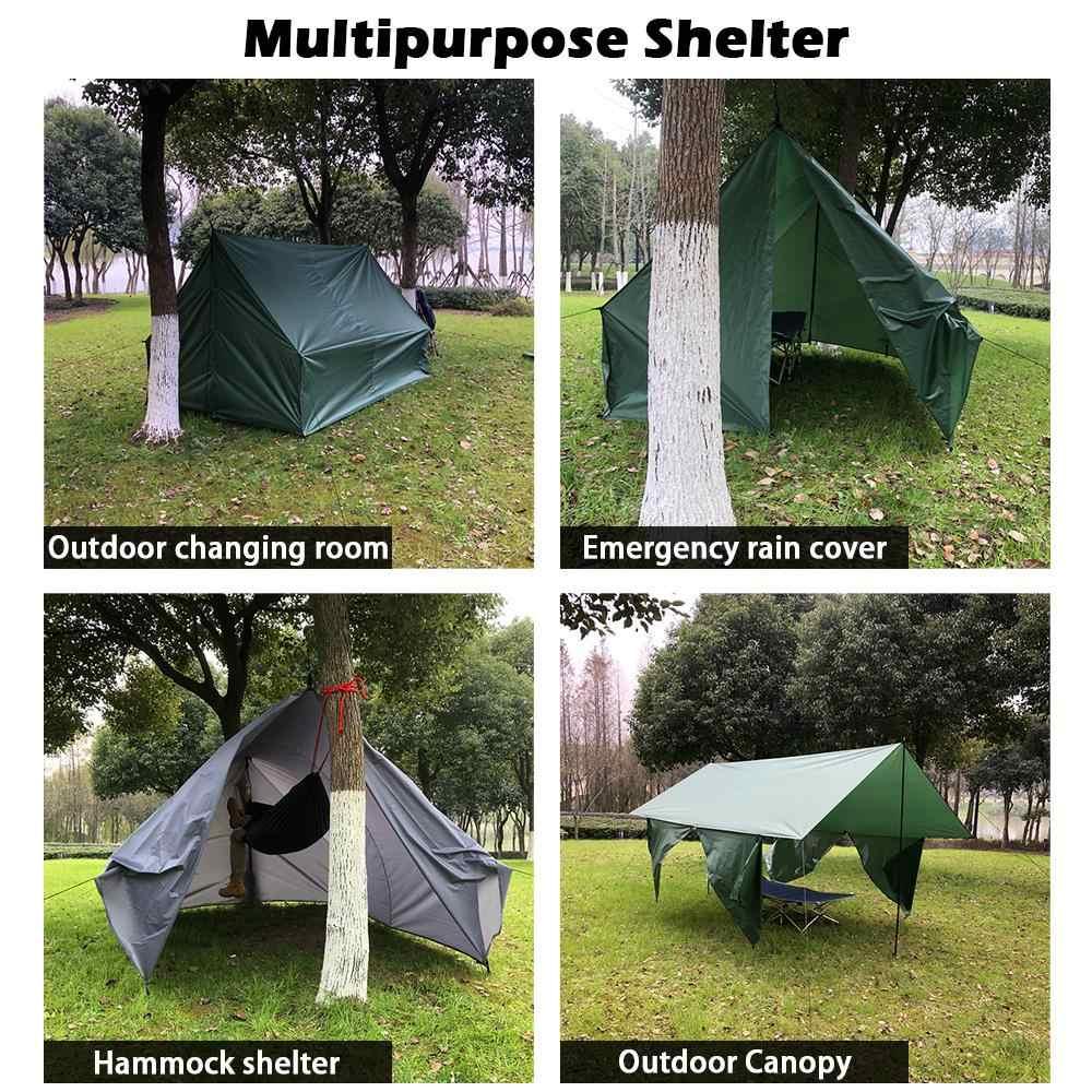 Baru Panas Tenda Kemah Tenda Piknik Tikar Tempat Tidur Gantung Hujan Fly Tahan Air Hujan Penutup Tanah Karpet Kasur Kanopi Kolam Ganti Sun SH