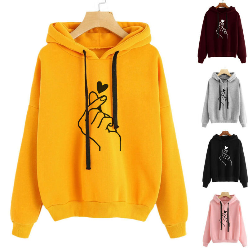 Spring Autumn Fashion Best Friends Matching Couples Hoodie Long Sleeve Sweatshirt Pullover Coat