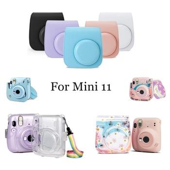 For Fujifilm Instax Mini 11 Instant Film Camera PU Leather Bag Case Cover Shell with Shoulder Strap mini 11 Handbags 1