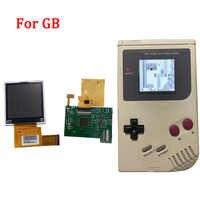 Retroiluminación juegos de lcd para Nintend GB retroiluminación pantalla LCD de alto brillo lcd con reemplazo de cable de cinta para consola GB DMG GBO