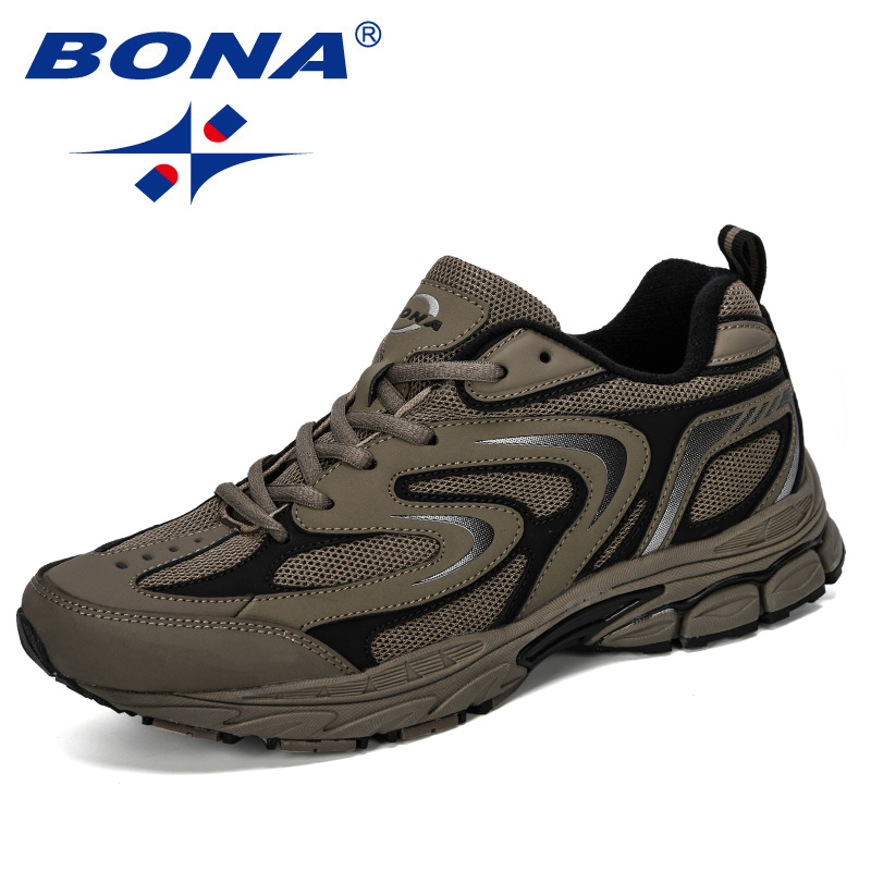 BONA 2019 New Designer Men Casual  Shoes Lightweight Breathable Walking Sneakers Man Tenis Feminino Zapatillas Hombre Trendy