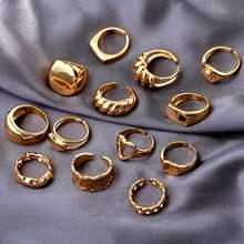 Flatfoosie-anillo ajustable con forma de corazón de mariposa y cristal para mujer, croissant torcido, Color dorado, Anillos geométricos