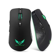 Мышь разыгрыша Backlight Сид 2400DPI 6 кнопки оптическая 2.4 G беспроводная профессиональный геймер компьютер ноутбук портативный мышей