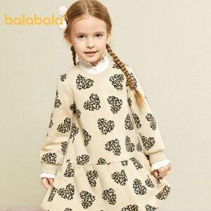 Image 4 - Balabala Mädchen kleider 2020 neue herbst und winter kleidung kinder prinzessin kleid casual kleid pullover rock