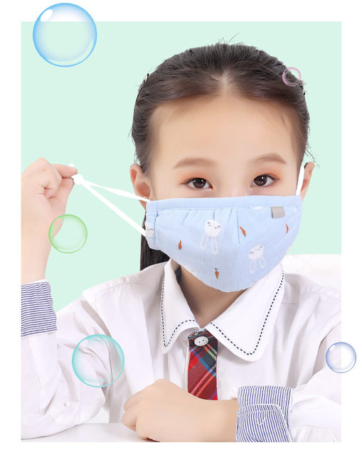 5pcs Children Cotton mascarillas Wash Reusable Kids Mask lavabili Girls Mouth-muffle bacteria Flu baby face masks reutilizables 5