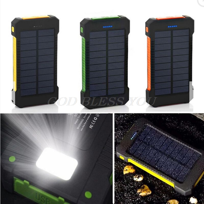 LED Dual USB Ports Solar Panel Power Bank Case Concise and vogue style Charger DIY Kits Box For Samsung Drop Shipping