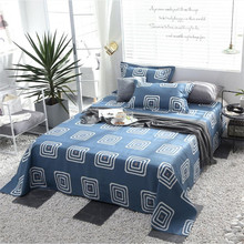 Cover Bedspread Fitted-Sheet Cotton King Queen Soft Printed Non-Slip Breathable-Fabric