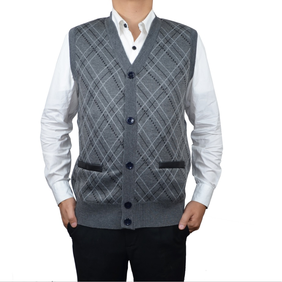 Plus Sizes Warm Sweater Vest Men Thick Sleeveless V Neck Jumper Pullovers Mens Casual Wool Sweater Coat Fall Winter 2019