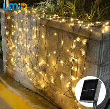 Solar Powered Xmas Outdoor Lights Waterproof Starry Christmas Fairy Lights For Indoor Gardens Homes Wedding Holiday