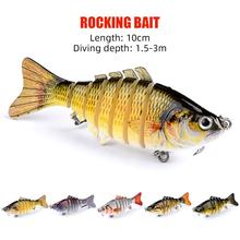 10cm Fishing Lure Sinking Wobblers Crankbaits Hard Lure Pike Jointed Swim bait Artificial Bait Fishing Tackle Bass Trout Fishing silicone bait wobblers artificial bait fishing lure soft lure 10cm 3 6g swimbaits lures for fishing bionic lure fishing gear