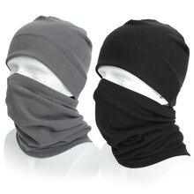 1 комплект зимняя шапка шарф унисекс теплая дышащая флисовая шапка ветрозащитная шапка для шеи шапочки многофункциональная шапка для шеи