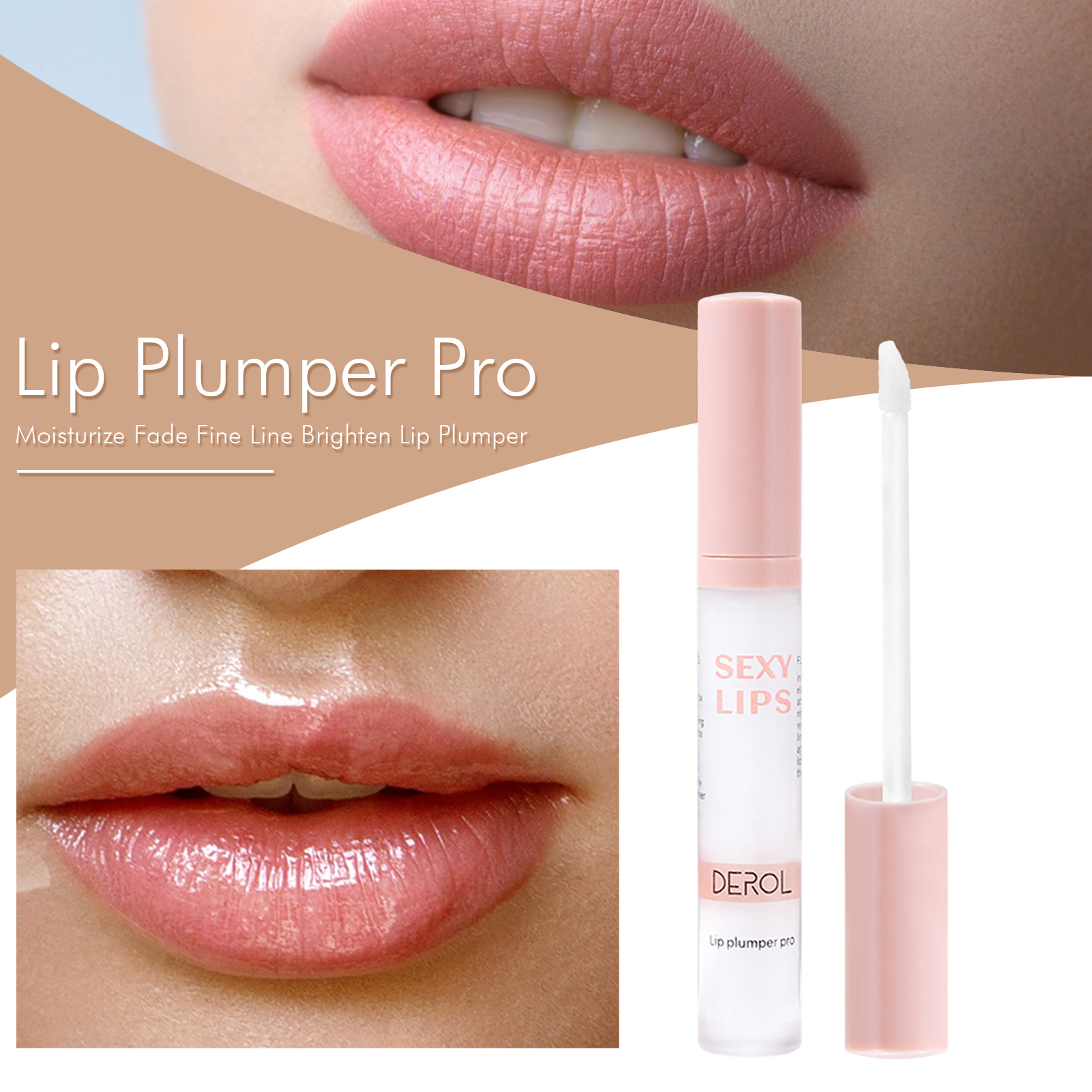Lip Plumper Instant Volume Lips Plumper Oil Moisturizing Repairing Reduce Lip Fine Line Cosmetics Sexy Lip Plump Enhancer Makeup
