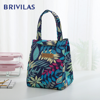 Brivilas lunch bag fashion ctue cat multicolor cooler bags women waterpr hand pack  thermal breakfast box portable picnic travel - discount item  30% OFF Special Purpose Bags