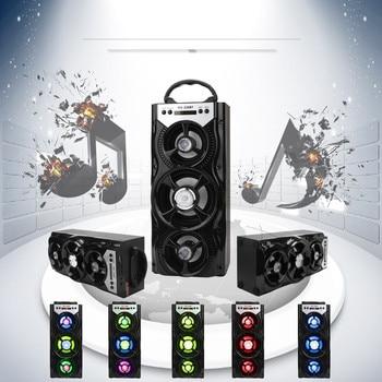 المتكلم في الهواء الطلق بلوتوث مكبر صوت لاسلكي قابل للحمل المسرح المنزلي سوبر باس مع USB/TF/AUX/FM راديو LED مكبرات الصوت من колонка # T20G