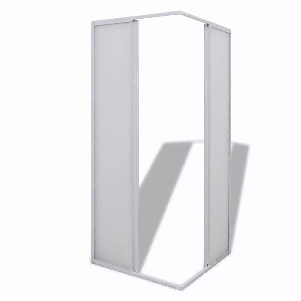 VidaXL paroi pare-baignoire douche 2 panneaux fixes et 2 portes coulissantes pliable cadre aluminium pare-baignoire 80X80 Cm pour salle de bain - 3