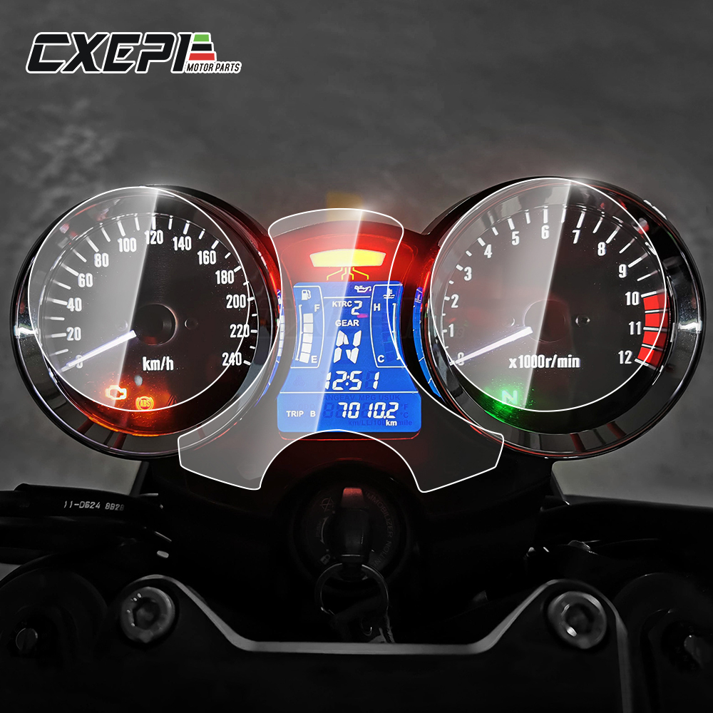 2 pieces Motorcycle Cluster Scratch Protection Film Screen Protector Instrument Dashboard For <font><b>kawasaki</b></font> <font><b>Z900RS</b></font> 2018 2019 image