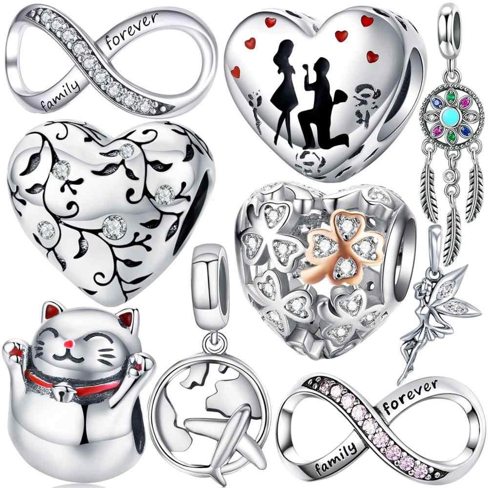 Esposa Amor encanto corazón genuino 925 Plata