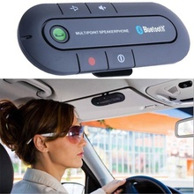 купить Car Wireless EDR Bluetooth Receiver Handsfree Multipoint Speaker MP3 Music Player Sun Visor Bluetooth Car Kit Speakerphone недорого