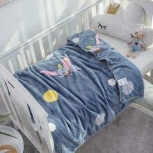 Disney dos desenhos animados dumbo macio quente coral velo bebê menino menina dumbo cobertor jogar folha no berço sofá presente de aniversário grande cobertor