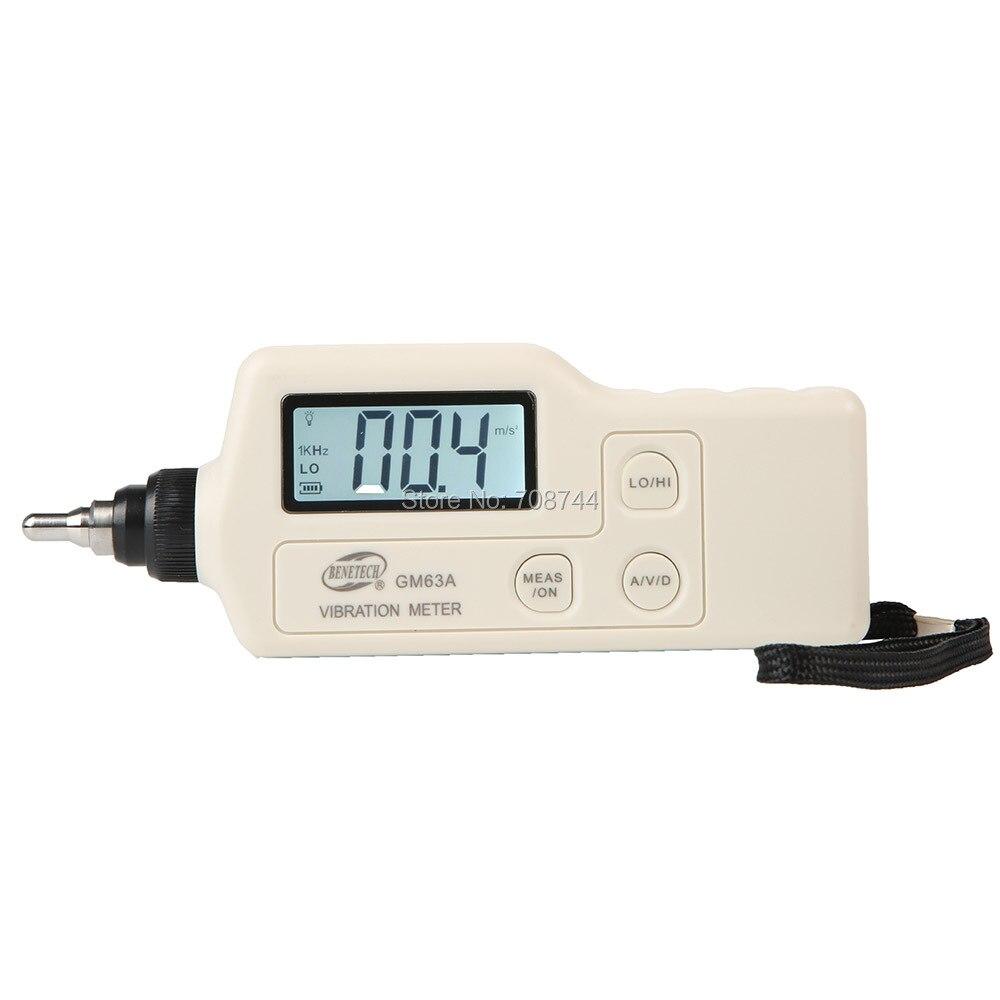 BENETECH вибрации анализатор цифровой измеритель вибраций устройство зонд Analizador де Vibraciones ручной GM63A вибратор тестер