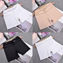 Womens Ice Silk Safety Shorts Seamless Boxer Briefs Underwear Boyshort Solid New R9JE