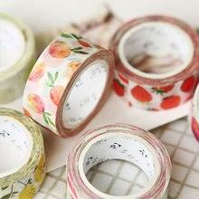 Cute Fruit Masking Tape DIY Decorative Tape Decor Maskingpaper Tapes 1.5cm*7m
